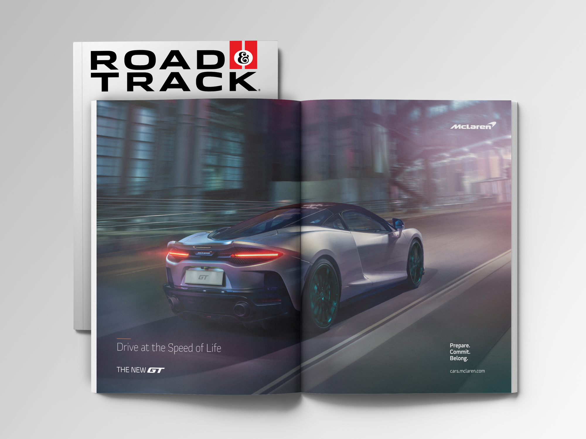 McLaren in Road & Track magazine
