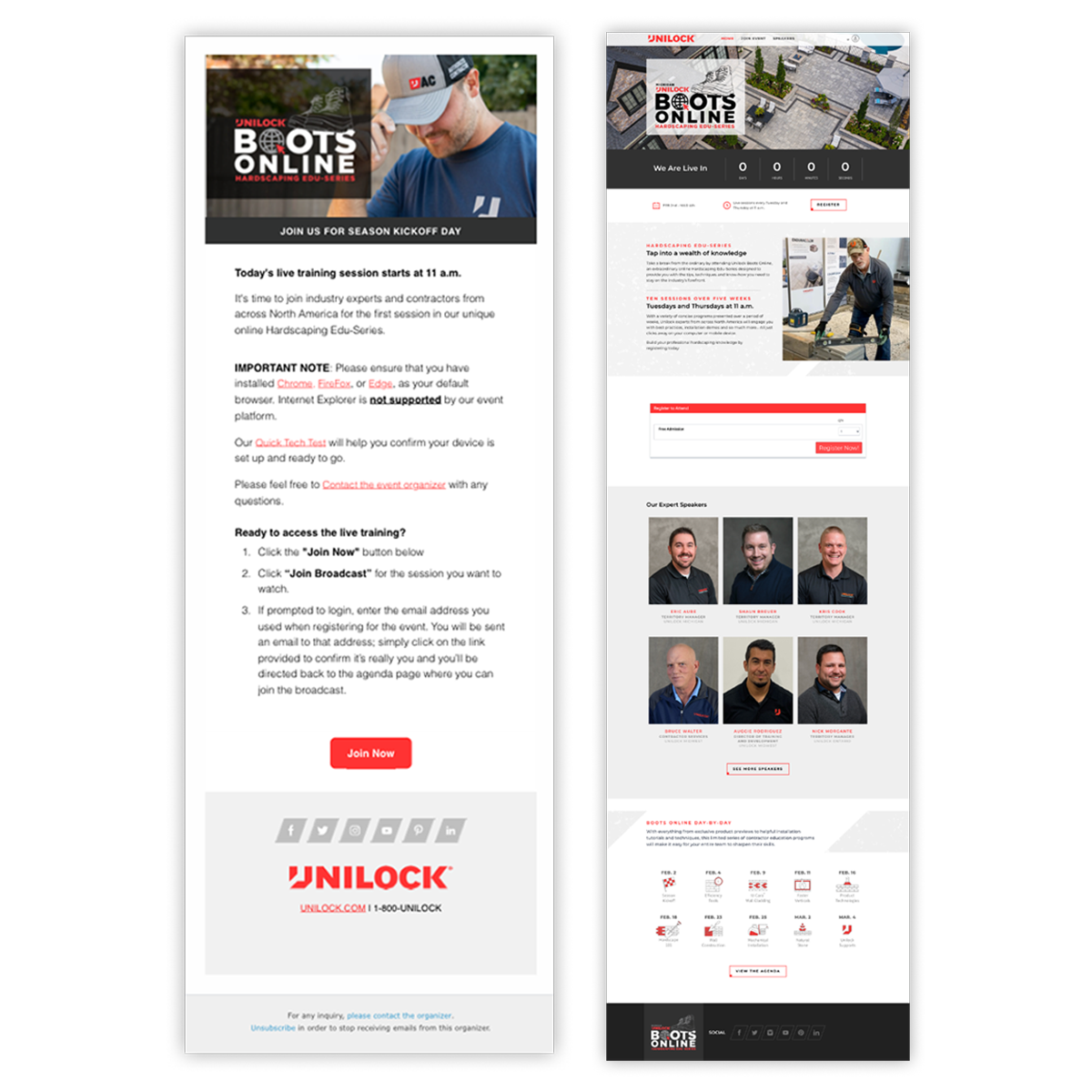 Unilock Landing Pages
